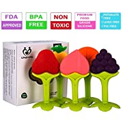 Linglong 5 pack Teething Toys Set for Baby,FDA Approved And BPA-Free/Dishwasher And Freezer Safe Teether