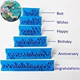 SHINA DIY 3D Silicone Sugar new style blue Letters Shaped Cake Craft Mold