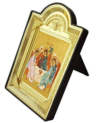 ZAMTAC Plastic Photo Frame Bronzing Icon of The Holy Trinity Religious Portrat Home Decoration Christian Supplies ing