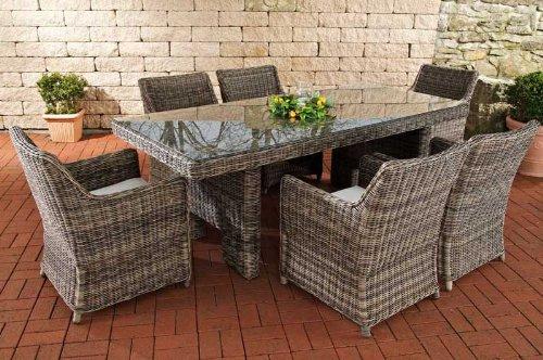 Clp Poly Rattan Gartenmobel Sitzgruppe Sandnes 6 Stuhle Tisch 220