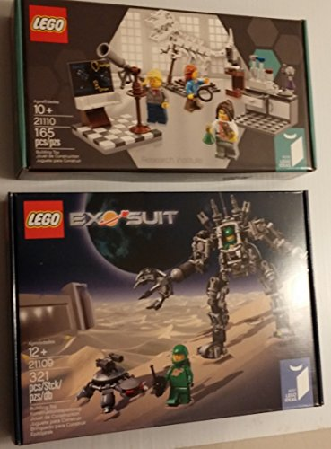 Lego Ideas Research Institute and Exo Suit Building Sets 21109 21110 (Lego Suit)