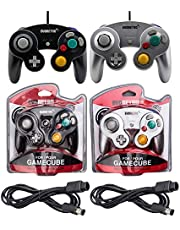 Black and Silver Controllers and 6ft Extension Cable Set - Compatible with Gamecube, Switch, Wii U, and PC by EVORETRO