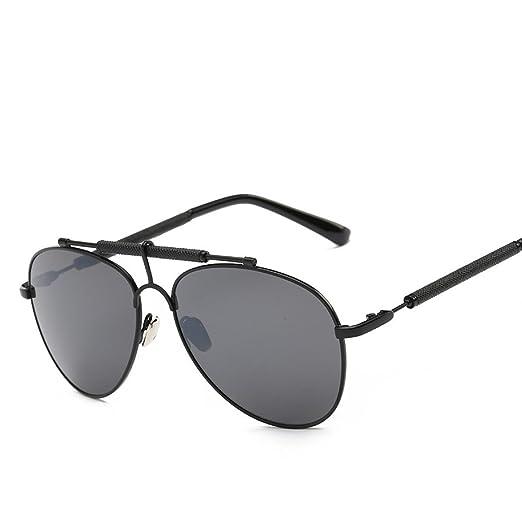 WKAIJC Mode Daren Straße Schießen Wild Persönlichkeit Retro Bequem Kreativ Sonnenbrille,A