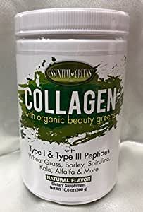 Amazon Com Essential Greens Collagen With Organic Beauty
