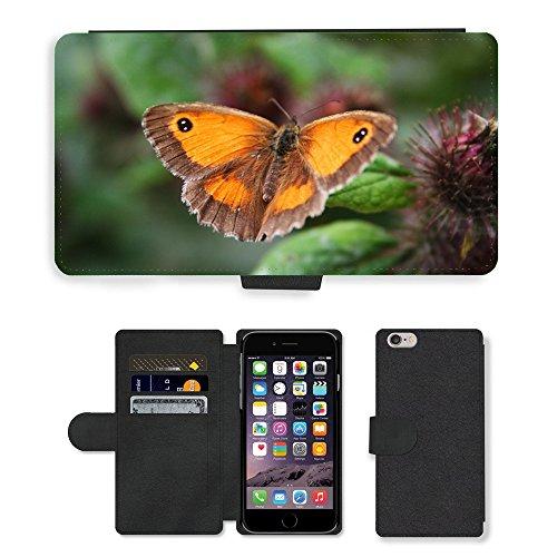 "Just Phone Cases PU Leather Flip Custodia Protettiva Case Cover per // M00129061 Papillon animal beau Bug couleur // Apple iPhone 6 PLUS 5.5"""