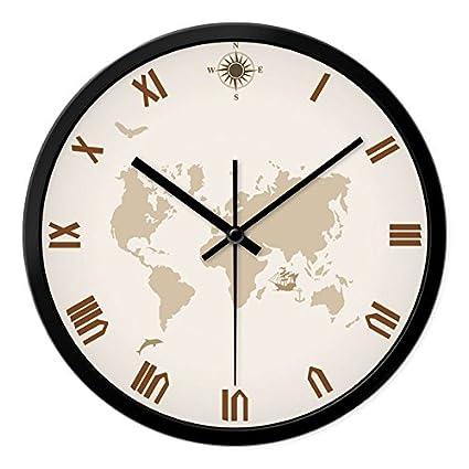 ENJOLE relojes personalizados y elegante reloj de pared de salón dormitorio moderno creativo silenciar grandes relojes
