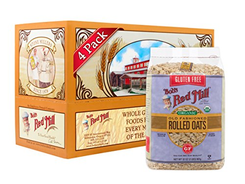 Bob's Red Mill Gluten Free Organic Old Fashioned Rolled Oats, 32-ounce (Pack of 4)