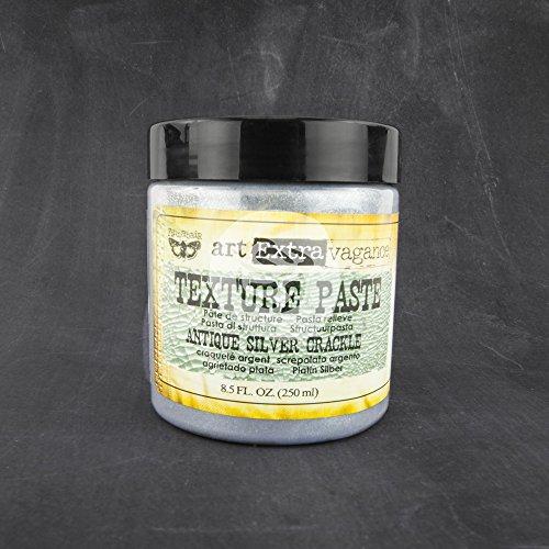 Prima Marketing Art Extravagance Texture Paste, 8.5-Ounce, Antique Silver Crackle