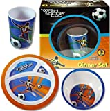 Extreme World Soccer Cup 3 pc Dinner Set