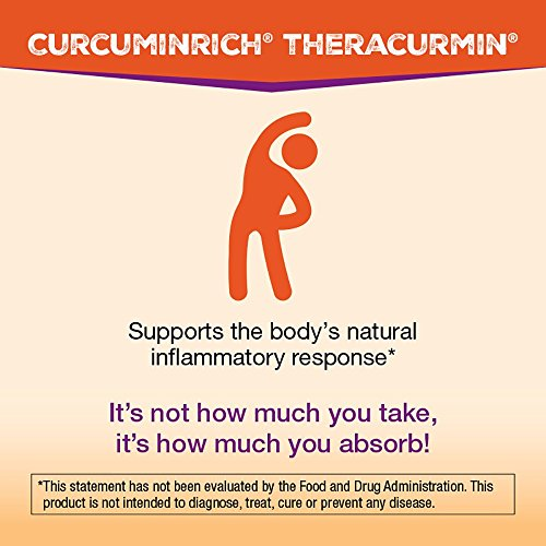 CurcuminRich by Natural Factors, Double Strength Theracurmin, Turmeric Supplement, Tumeric Supplement Joint and Heart Function, 60 Capsules (60 Servings) (FFP) by Natural Factors (Image #2)