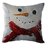 What Size Is a European King Mattress Weiliru Farmhouse Throw Pillow Covers Linen Rustic Pillow Case 18 x 18 Merry Christmas Home Decorative