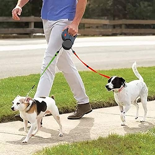 Mowis Dual Dog Leash, Double Retractable Non Tangling Heavy Duty 10ft Leashes, Walking 2 Dogs up to 50lbs, One-Handed Brake/Pause/Lock by Mowis (Image #6)