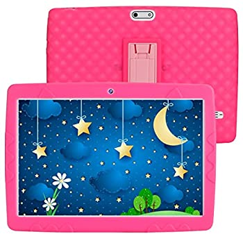 SANNUO 10 inch Children Pill,Android 10.0 RAM 3GB ROM 32GB 3G LET Twin SIM Card for Children Training, Watch Film and Play Recreation(Pink)…