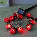 Waterproof Outdoor Solar Beetle LED String Light Garden Yarn Lamp