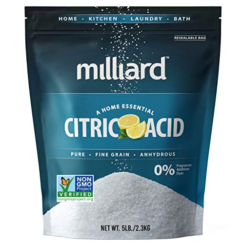 Milliard Citric Acid 5 Pound - 100% Pure Food Grade NON-GMO Project VERIFIED (5 Pound)