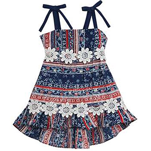 Girl 4t 4 Rare Editions (Rare Editions Little Girls' Americana Tie Sundress (4/4T))