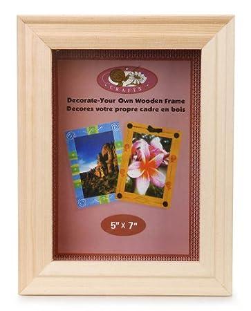 5-Inch Darice 9184-76 Natural Wood Shadow Box Frame White