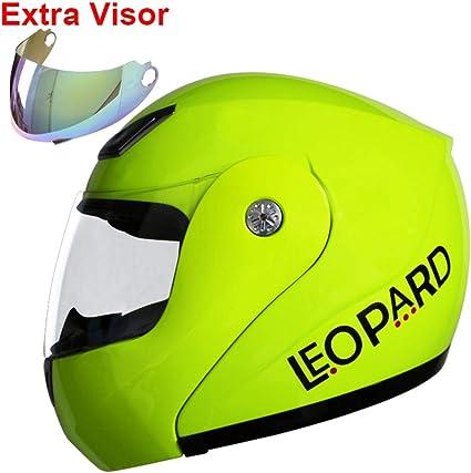 Amazon.es: Leopard LEO-717 Casco Moto Modular ECE Homologado Casco ...