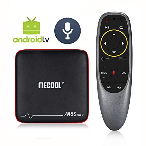 [Deal Price ONLY $45, Google TV Edition] 2018 Best Model MECOOL Voice-Activated Android 7.1 TV Box 2GB RAM 16GB ROM Support OTA Update with Android TV Launcher and Ultra-Fast Amlogic 64Bits Processor