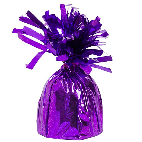 Foil Balloon Weights Purple Package of 6 Birthday Party Supplies Decorations