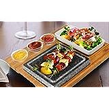 Artestia Barbecue / BBQ / Hibachi / Steak Grill Sizzling Hot Stone Set, Deluxe Tabletop Grill