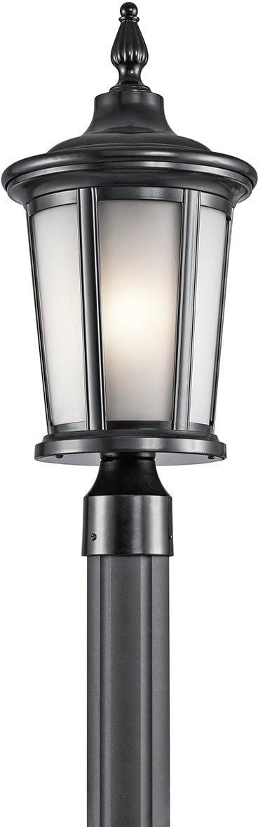 Kichler 49657BK Turlee Outdoor Post, 1 Light Incandescent 100 Watts, Black