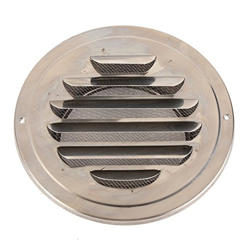 SODIAL(R) 100mm Stainless Steel Round Circle Air Vent Grille Ducting Ventilation Cover (Circle Air)