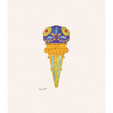 Posters: Andy Warhol Poster Art Print - Ice Cream Dessert, C.1959 (Purple Fancy) (14 x 11 inches)