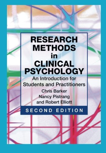 Research Methods in Clinical Psychology: An Introduction...