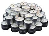 MontoPack Unscented Tealight Candles Bulk 125 Pack | Paraffin Pressed Wax, Smokeless, Dripless, Long Lasting Burning | for Home Decor, Table Centerpieces, Birthday Parties, Christmas and Pool