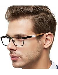 Men Metal Optical Eyewear Frame With Clear Lenses...