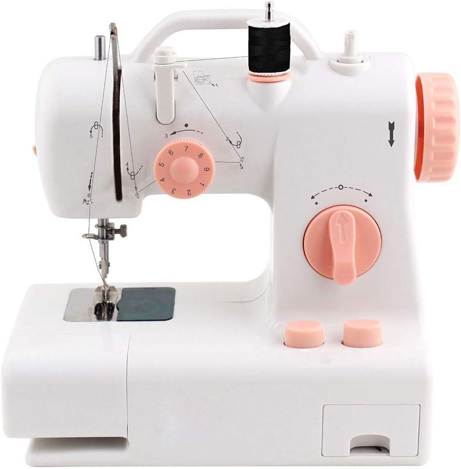 BXWQPP Maquina de Coser Portátil Herramienta de Puntada Rápida para Tela Ropa Tela de Niños Viaje Casa Heavy Duty Automatic Sewing Machine Manual Dedicado,A
