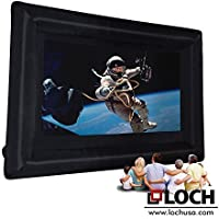 Loch IWS200 - 24 Foot Diagonal Total (View Area 200 Diagonal Rear and Front 16:9) Inflatable Projection Screen - Outdoor Movies Cinema - Include Blower,Bag, Ropes, Stakes