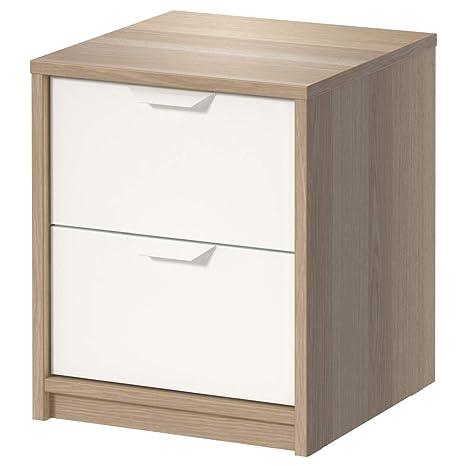 IKEA ASIA ASKVOLL - Cajonera con 2 cajones, Color Blanco ...