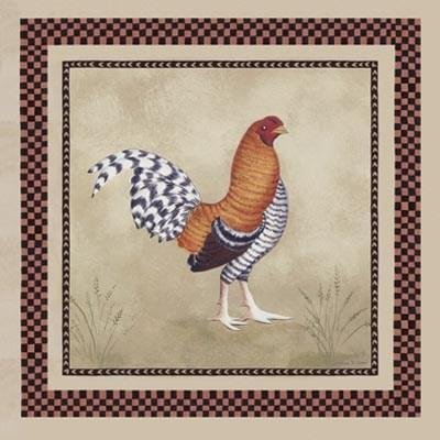 Katharine Gracey - Bordeaux Rooster I NO LONGER IN PRINT - LAST (Bordeaux Rooster)