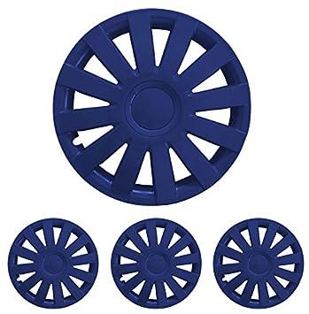 Tapacubos – Tapacubos Tapacubos Agat Azul 16 pulgadas 16 R16 universal apto para casi todos