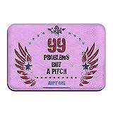 99 problems hugo - 99 Problems But A Pitch Ain't OneDoormat Entrance Mat Floor Mat Rug Indoor/Outdoor/Front Door/Bathroom Mats Rubber Non Slip