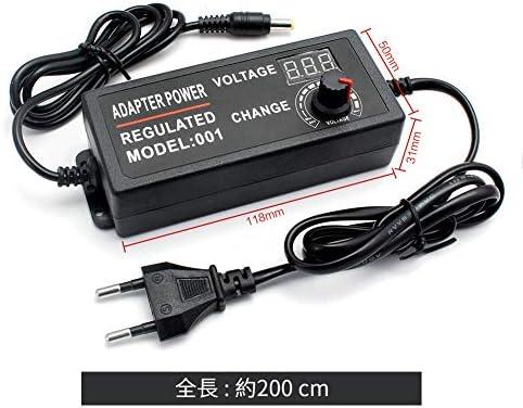 WOWOONE調整可能なACからDC 3V 9V 12V 24Vユニバーサル電源アダプター供給ディスプレイ画面充電器電源アダプター220Vから3 9 12 24 Vボルト (3V-12V 5A)