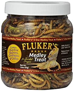 Fluker Labs SFK72021 Bearded Dragon Medley Treat Food, 1.8-Ounce