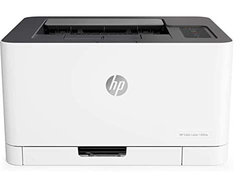HP Color Laser 150nw - Impresora láser (18 ppm/4 ppm, Bandeja de Salida de 50 Hojas, LED, USB 2.0 de Alta Velocidad, WiFi), Blanco