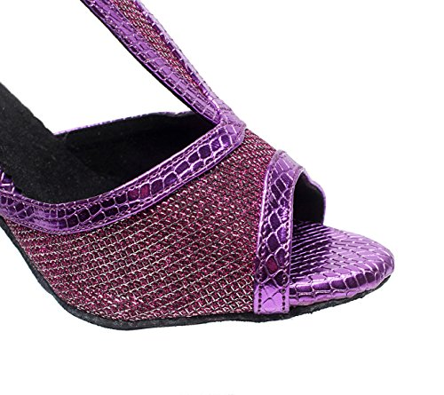 Sandals Heels Latin Shoes Purple JSHOE Jazz heeled7 UK4 Tango Samba Our36 Shoes Dance High Tea Modern 5cm Salsa EU35 Women's Pqw5qrFO