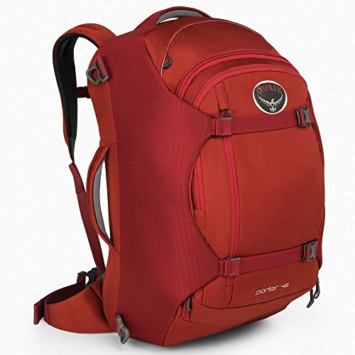Osprey Porter Travel Duffel Bag Hoodoo Red 46-Liter