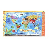 Oopsy Daisy Our World Stretched High Mural Art, 89'' x 54''