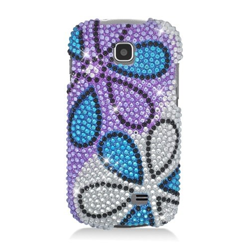 Boundle Accessory for At&t Samsung Galaxy Appeal I827 - Daisy Rhinestones Hard Case Protector Cover + Lf Stylus Pen ()