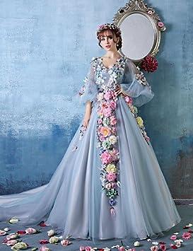 Mujeres Dama dressformal de vestido de fiesta de cóctel vestidos de fiesta cuello de pico Catedral