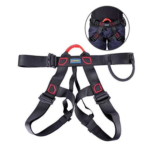 UCEC Climbing Harness Safe Seat Belt, for Fire Rescue, High Altitude Rock Climbing, Rappelling Equipment, Half Body Guard Protect, pack of 1(black) (Best Shoes For Rappelling)