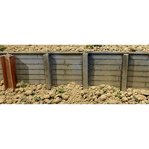 Ho Scale Retaining Wall - Flexible Timber Retaining Wall -- Medium for HO Scale: 3-3/4 x 12