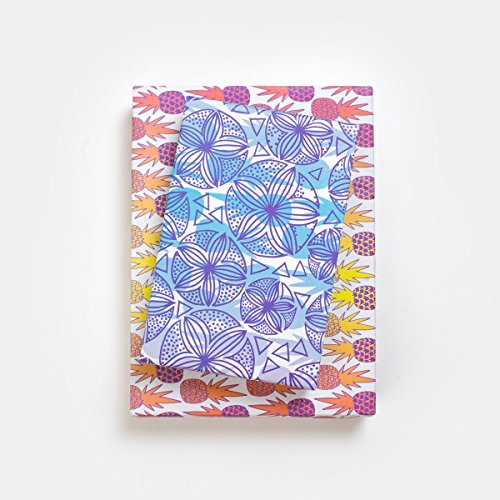 - Purple Shell Sand Dollars/Fiesta Pineapples (6 Sheet Value Pack) - Eco-friendly Wrapping Paper – Reversible - Gift Wrap By Wrappily