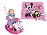 Kiddieland Disney Minnie Mouse 4-in-1 Activity Push Ride-On and Minnie Mouse 4 x 4 Activity Play Mat