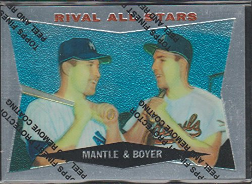 1997 Nhl All Star Game (1997 Topps Mickey Mantle Yankees Rival All-Stars Baseball Card #160)